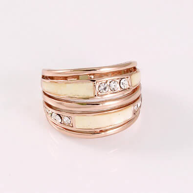 rings, jewelry material, Gold plated ring