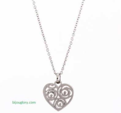 pendants and chains, pendants made of steel, heart pendant made of steel