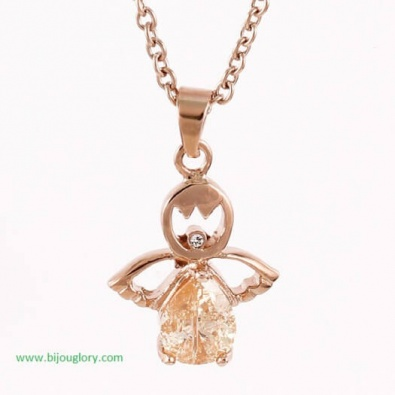 pendants and chains, pendants made of steel, Pendant of stainless steel Angel Rose Gold